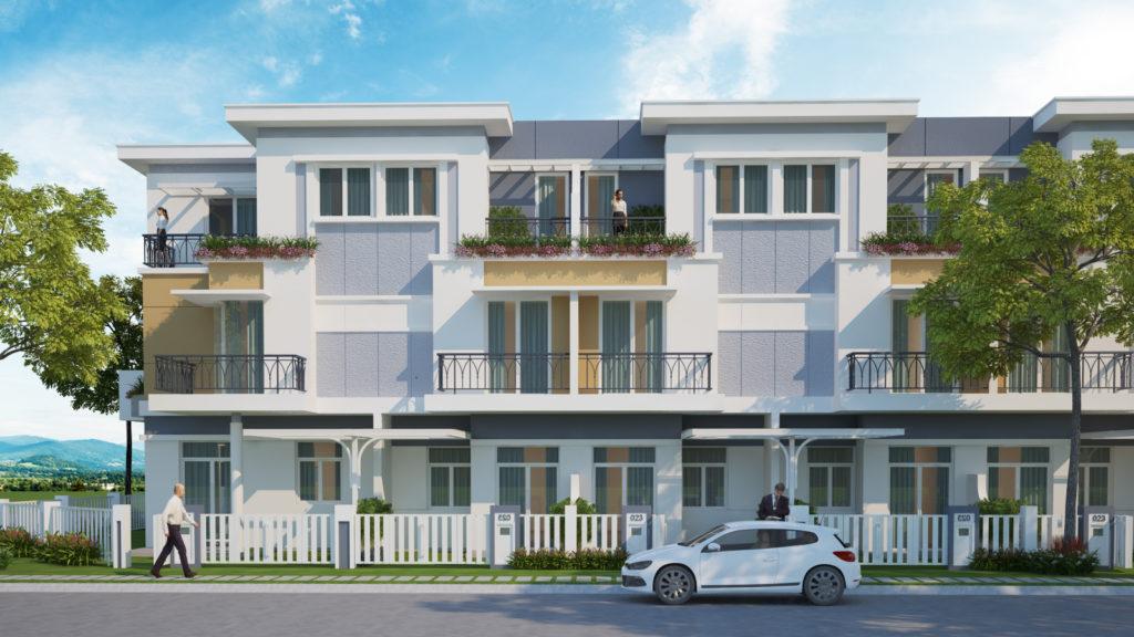 Mẫu nhà trong dự án Rosita Garden được thiết kế chăm chút từng chi tiết