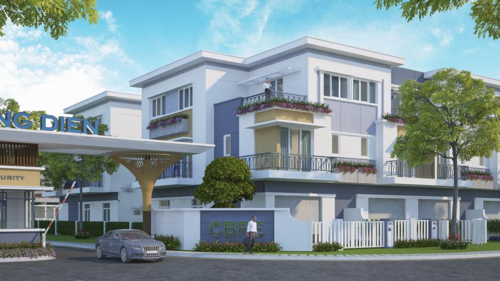 Phối cảnh dự án Nhà phố Khang Điền Quận 9.