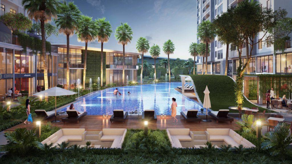 Jamila có thiết kế phong cách Singapore xanh, sạch, hiện đại, hài hòa với thiên nhiên