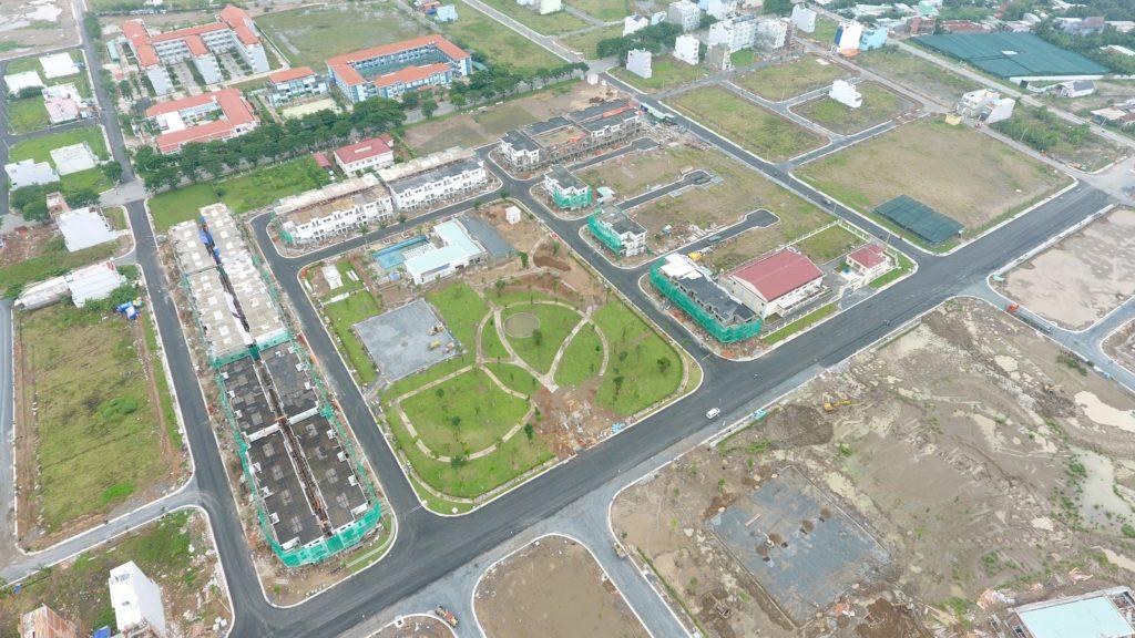 Hình ảnh Dự án Lovera Park Bình Chánh nhìn từ trên cao.