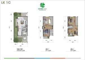 Thiết kế nhà phố Lovera Park căn M31 mẫu LK1C - Khang Điền HCM