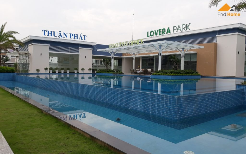 Cụm tiện ích Dự án nhà phố Lovera Park Bình Chánh. Bao gồm Hồ Bơi, Gym, Mini Mart và Nhà điều hành