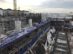Hình ảnh thực tế từ công trường Block C&D của dự án Jamila Khang Điền quận 9. Ảnh: Khang Điền