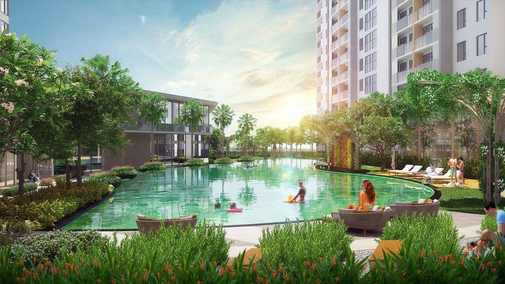 Phối cảnh khu tiện ích dự án căn hộ Jamila Khang Điền Quận 9
