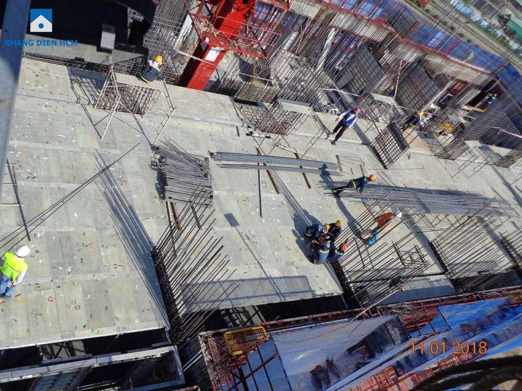 Chất lượng xây dựng cũng như tiến độ của Dự án Jamila Khang Điền luôn được CĐT Khang Điền giám sát chặt chẽ.