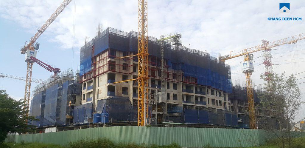 Tiến độ xây dựng dự án Jamila Khang Điền Tháng 01/2018. Ảnh: Khang Điền HCM