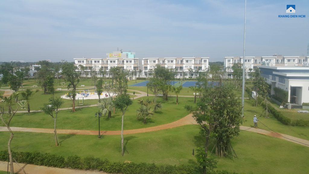 Khu công viên trung tâm - Centre Park đã hoàn thiện và đưa vào sử dụng. Ảnh: Khang Điền
