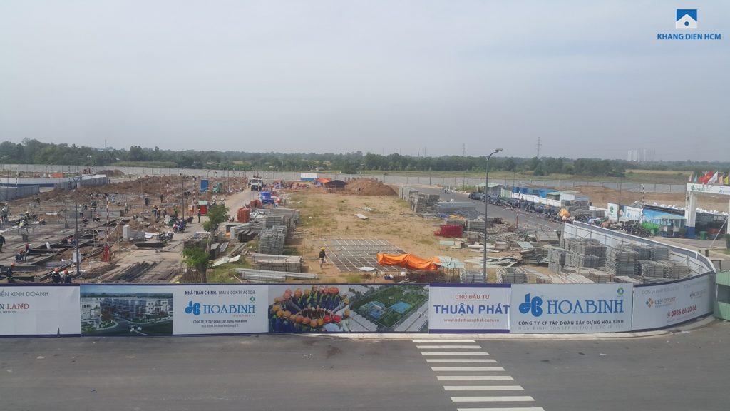 Tiến độ xây dựng Dãy G và F Dự án Lovera Park Bình Chánh. Ảnh Khang Điền HCM