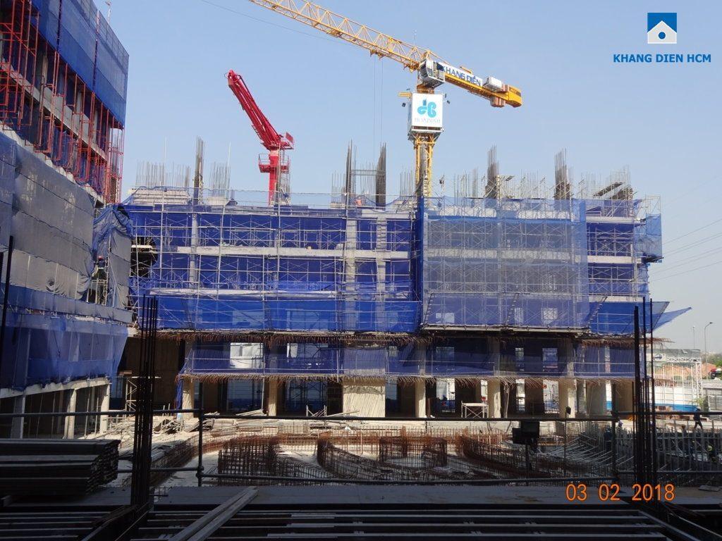 Block A Jamila Khang Điền đã thi công xong sàn tầng 6 và đang tiếp tục thi công phần kết cấu tầng 6