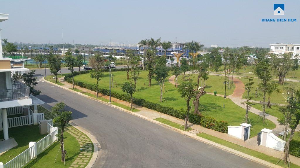 Cây xanh của công viên dự án Lovera Park Bình Chánh phát triển khá tốt. Ảnh: Khang Điền HCM