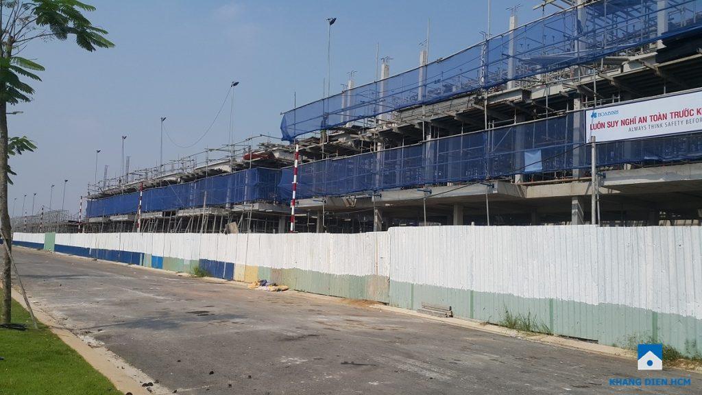 Block F đang thi công sàn tầng 2 và 1 phần sàn tầng 3 dự án Lovera Park. Ảnh: Khang Điền HCM