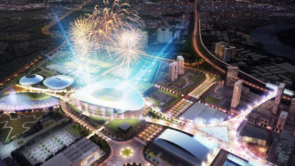 Khu liên hiệp thể thao quốc gia Nam Rạch Chiếc sẽ là nhân tố then chốt giá khu vực đường Song Hành cao tốc LT - DG gia tăng giá trị.