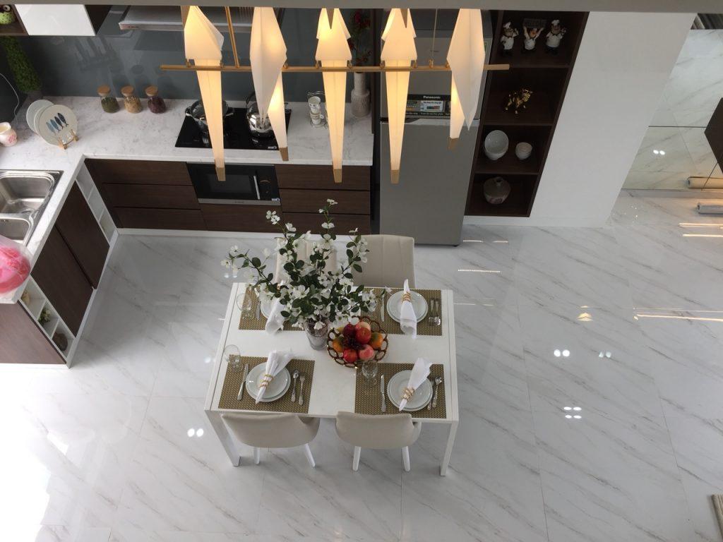 Phòng Bếp trong nhà mẫu dự án Lovera Park - Khang Điền HCM