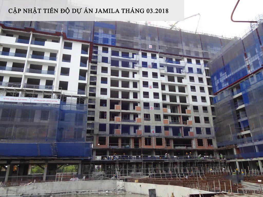 Block C cũng đang tiến hành thi công tầng 14 như Block D. Ảnh Khang Điền HCM