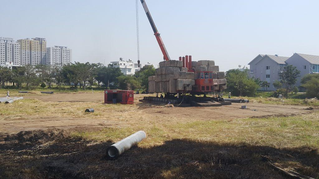 Tổng thầu An Phong đang tiến hành thử tải - Khang Điền HCM