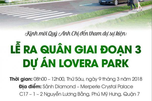Ngày 09/03/2018 chính thức tổ chức lễ ra quân GDD3 dự án Lovera Park - Khang Điền HCM