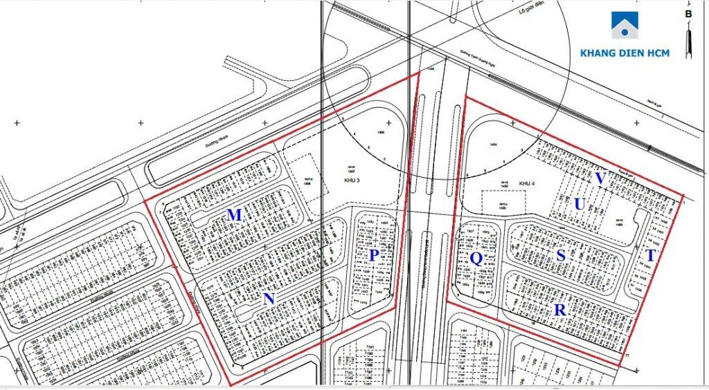 Mặt bằng phân lô Khu 3&4 dự án nhà phố Lovera Park - Khang Điền HCM