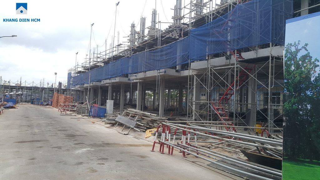 Một số căn thuộc Block L mới thi công xong phần kết cấu tầng 1. Ảnh: Khang Điền HCM