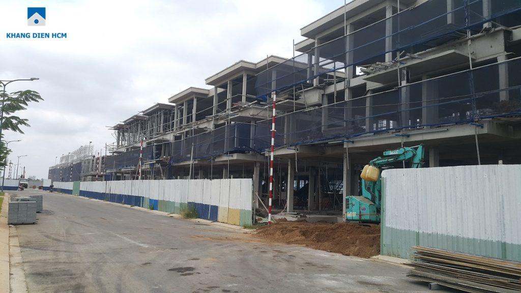 Các căn nhà phố thuộc Block F hướng về công viên khu 1 - Dự án Lovera Park Bình Chánh