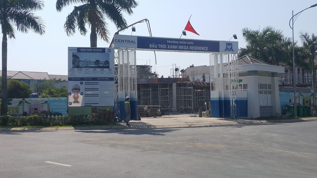 Trường mầm non Bầu Trời Xanh Mega Residence đang được xây dựng và sẽ đi vào hoạt động cuối 2018 - Khang Điền HCM