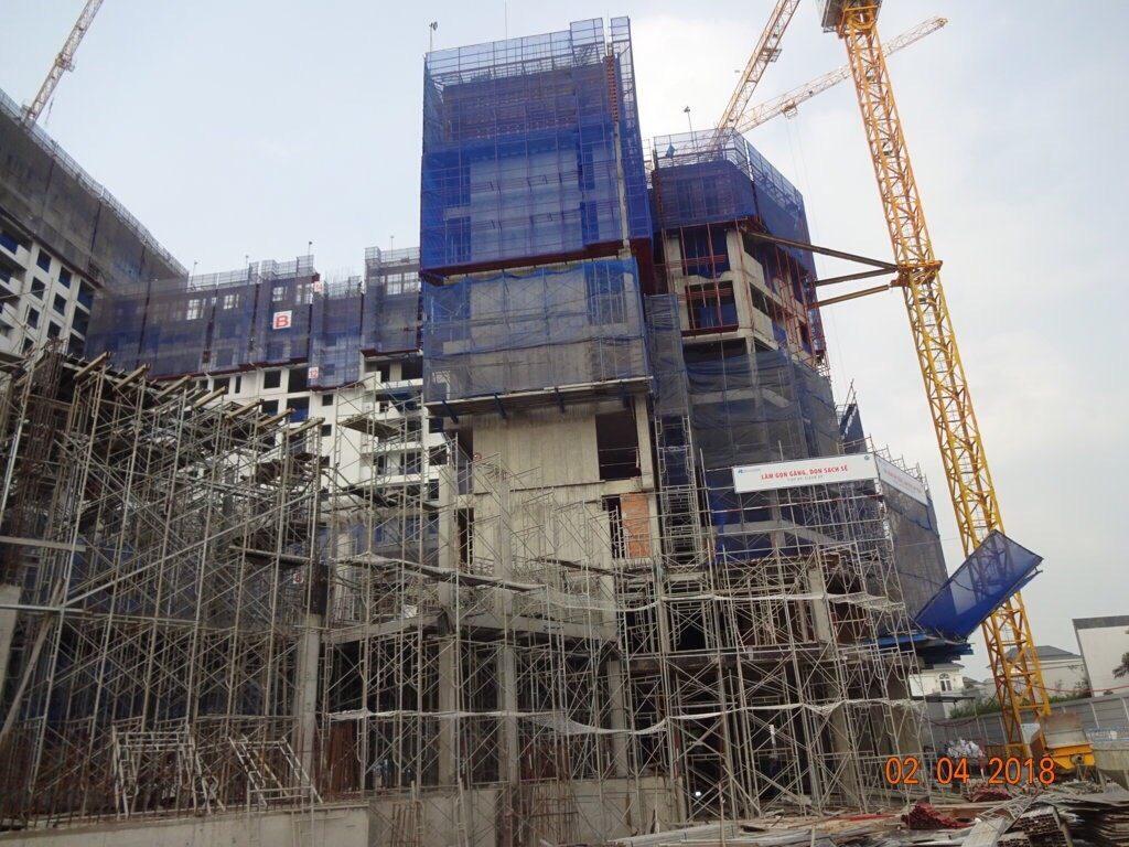Block A dự án Jamila Khang Điền đang được thi công cốp pha, dầm, sàn tầng 10 - Khang Điền HCM