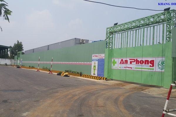 Cổng chính mặt tiền đường Vành Đai 2 đi vào căn hộ Saphire Phú Hữu - Khang Điền HCM