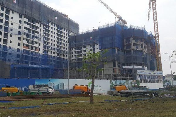 Dự án căn hộ Jamila Khang Điền nhìn từ hướng đường Song Hành - Khang Điền HCM