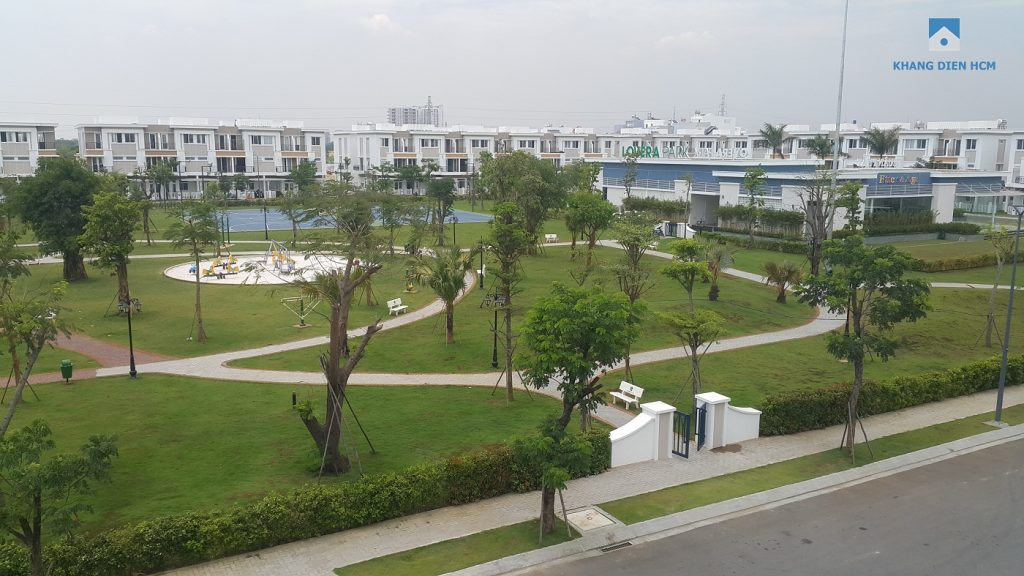 Công viên trung tâm Khu 2 dự án Lovera Park phục vụ cho cư dân 3 Block H, K, L