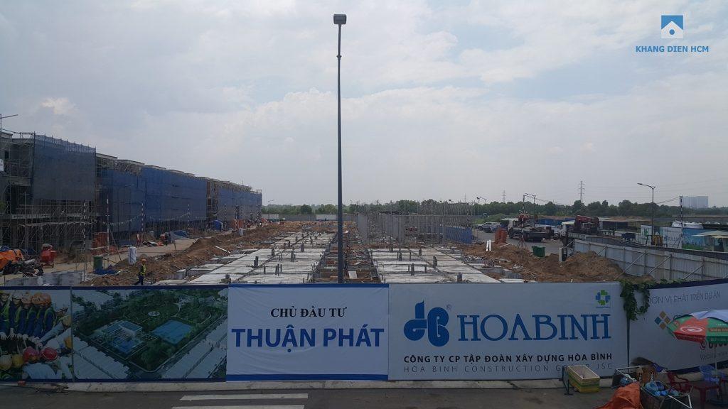 Block G đã đỗ xong móng chuẩn bị tiến hành lên tầng - Khang Điền HCM