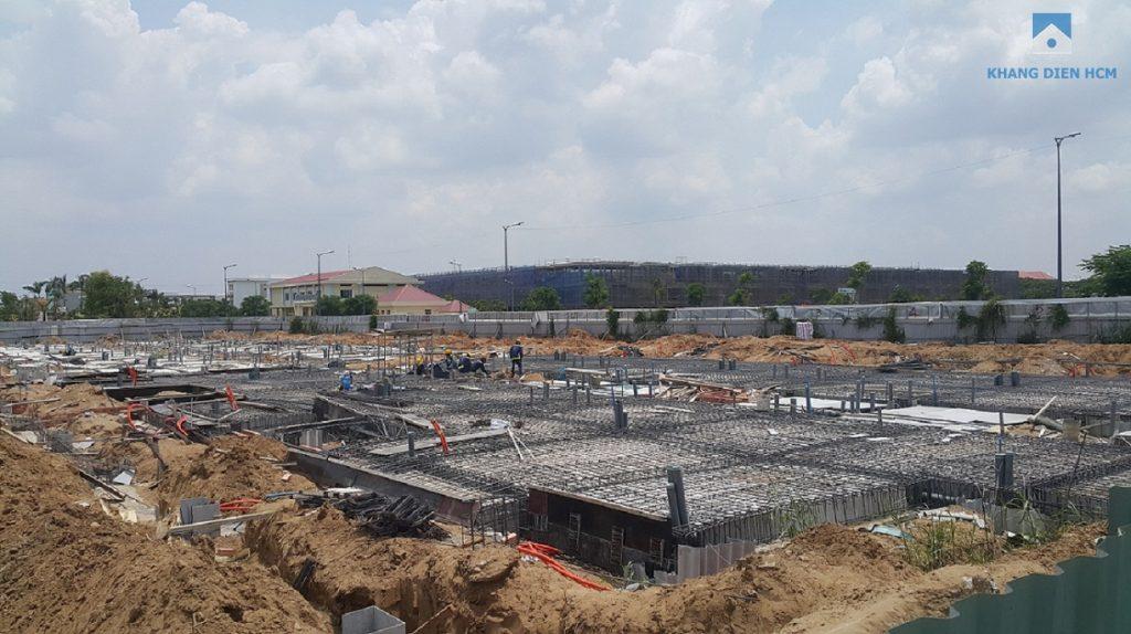 Block C được tiến hành xây dưng sau cùng trong Khu 1, hiện tại đã đổ xong phần nền tầng trệt. Khang Điền HCM