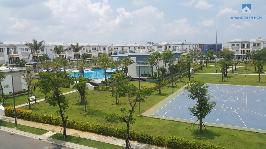 Công viên trung tâm Khu 2 phục vụ cho cư dân dãy H, K, L đã hoàn thiện được 7 tháng. Khang Điền HCM