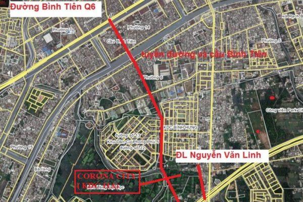 Tháng 6/2018 khởi công xây dựng Cầu Bình Tiên (đường Song Hành QL50) sẽ là đồn bẫy cho BĐS khu Tây - Khang Điền HCM