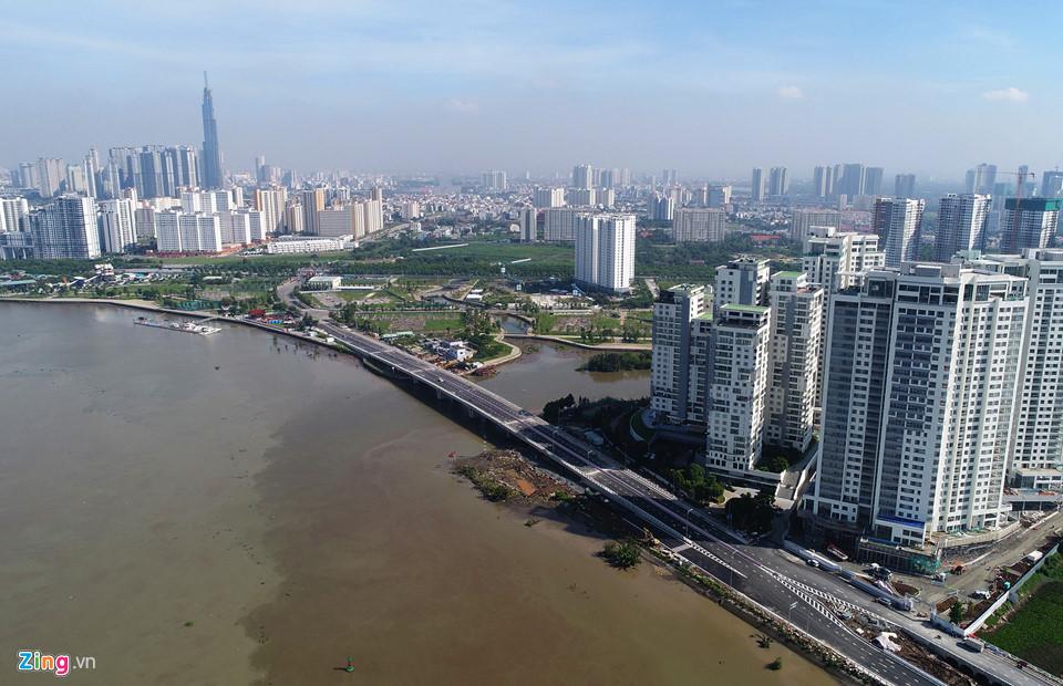 Sáng 30/5, Sở GTVT TP.HCM tổ chức lễ thông xe cầu qua đảo Kim Cương, quận 2 sau hơn 8 tháng thi công. Dự án vượt kế hoạch gần 2 tháng - Khang Điền HCM