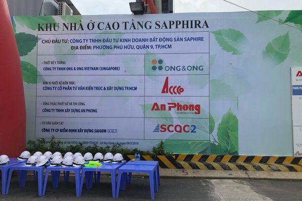 Bảng thông báo chính thức tại công trường dự án căn hộ Sapphira Khang Điền - Khang Điền HCM