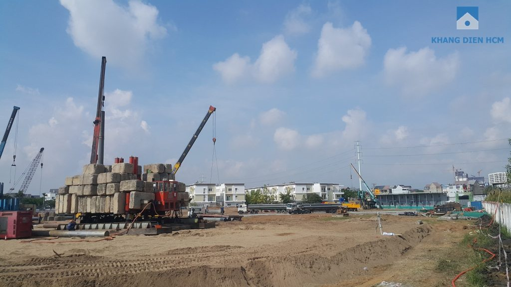 Một góc dự án căn hộ Saphire Khang Điền đang được thi công rất rầm rộ - Khang Điền HCM