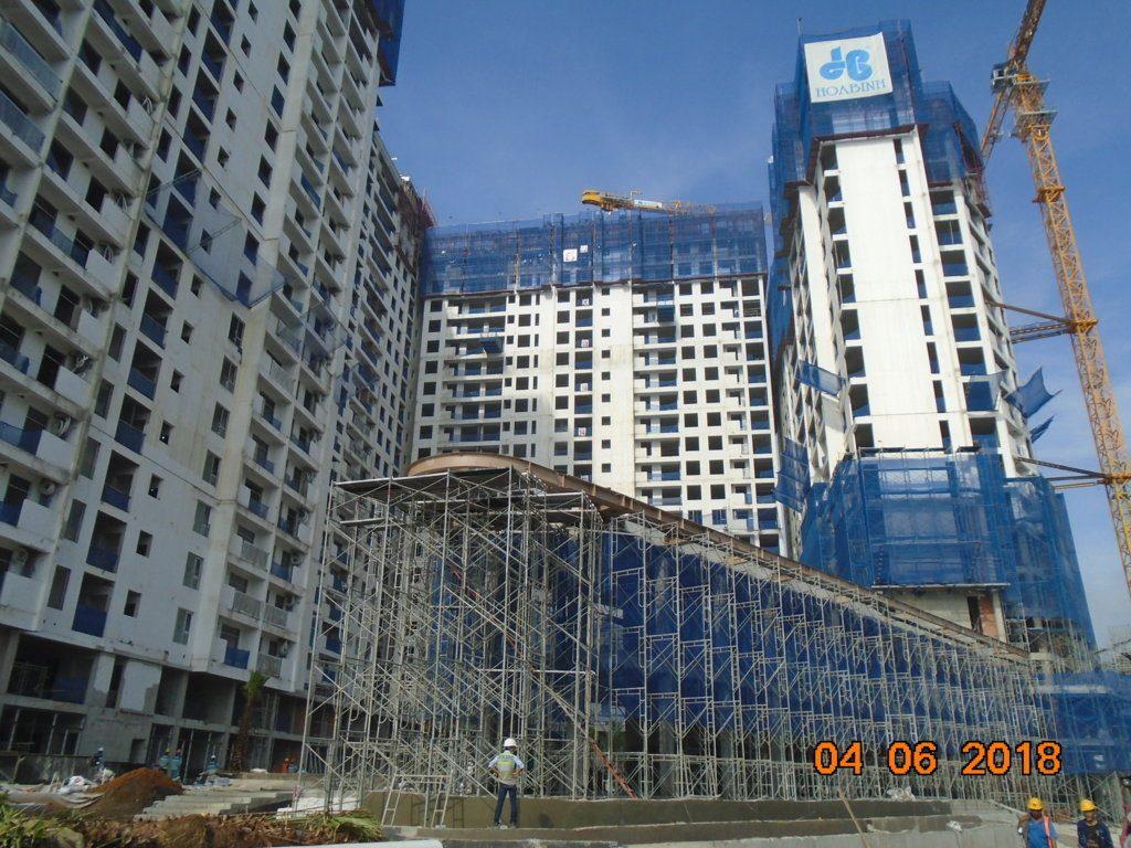 Đơn vị xây dựng Hòa Bình đang hoàn thiện dự án Jamila Khang Điền