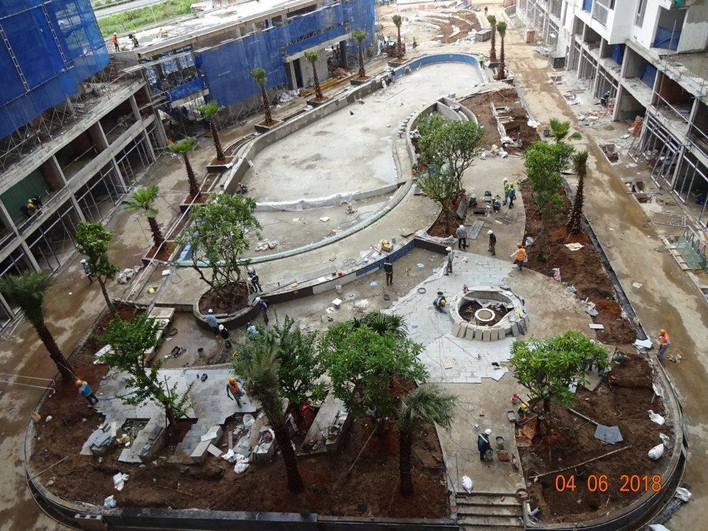 Tiện ích nội khu dự án Jamila Khang Điền đang thi công.