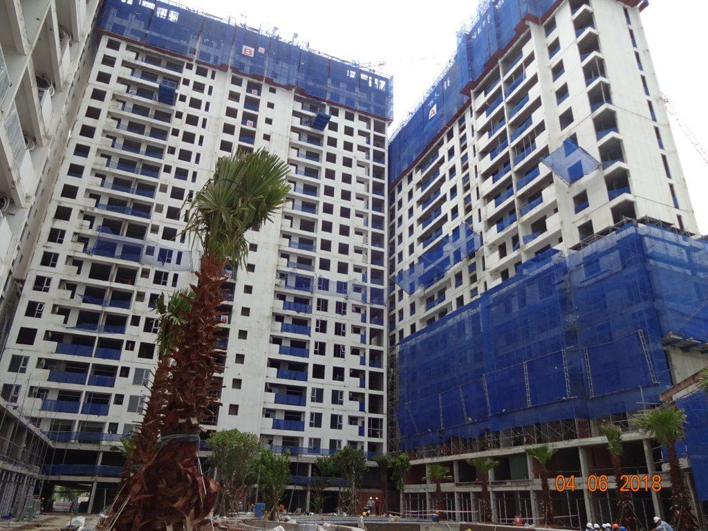 Block Podium – Shophouse dự án Jamila Khang Điền: Lắp dựng canopy clubhouse.
