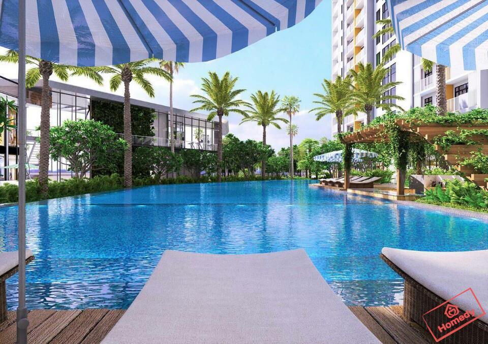 Hồ bơi dự án Sapphira Khang Điền quận 9. Ảnh minh họa