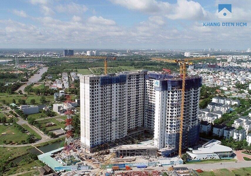 Hình ảnh thực tế toàn bộ dự án căn hộ Jamila Khang Điền tháng 07-2018 chụp từ trên cao - Khang Điền HCM