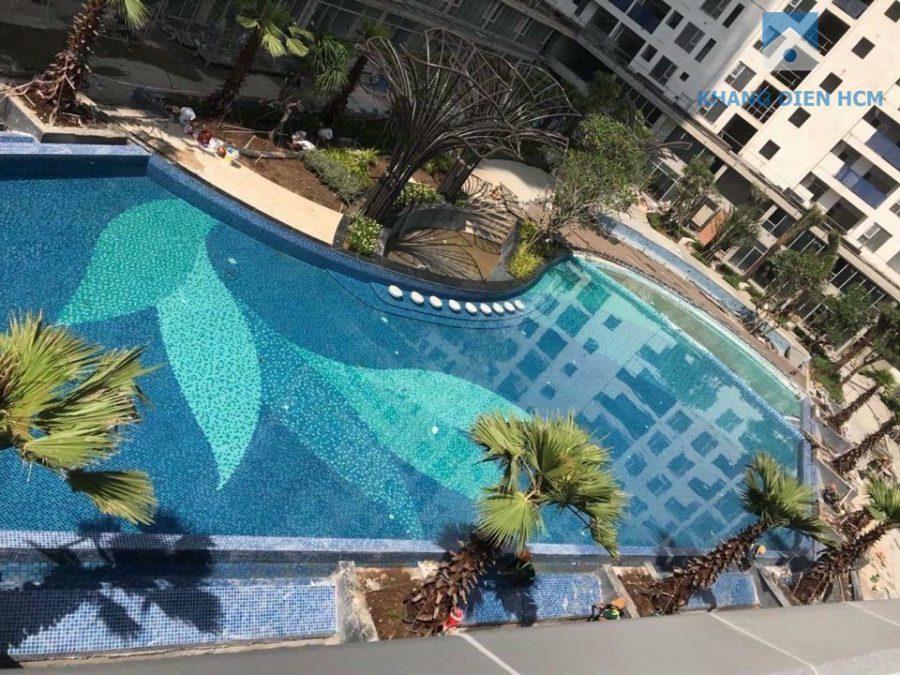 Hồ bơi dự án căn hộ Jamila nhìn từ trên cao - Khang Điền HCM