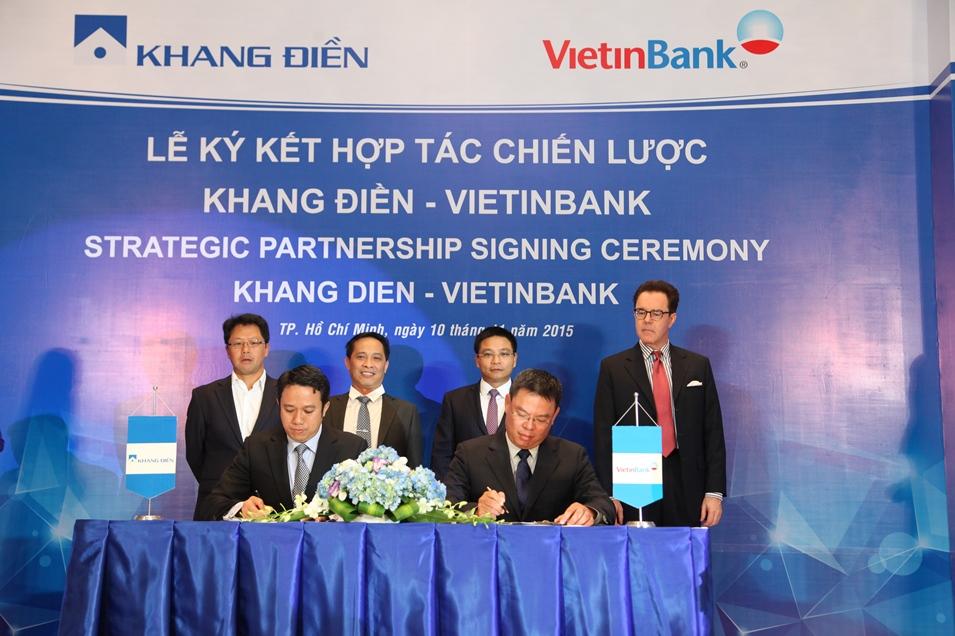 Lễ ký kết hợp tác chiến lược giữa Công ty Khang Điền và Ngân hàng Vietinbank