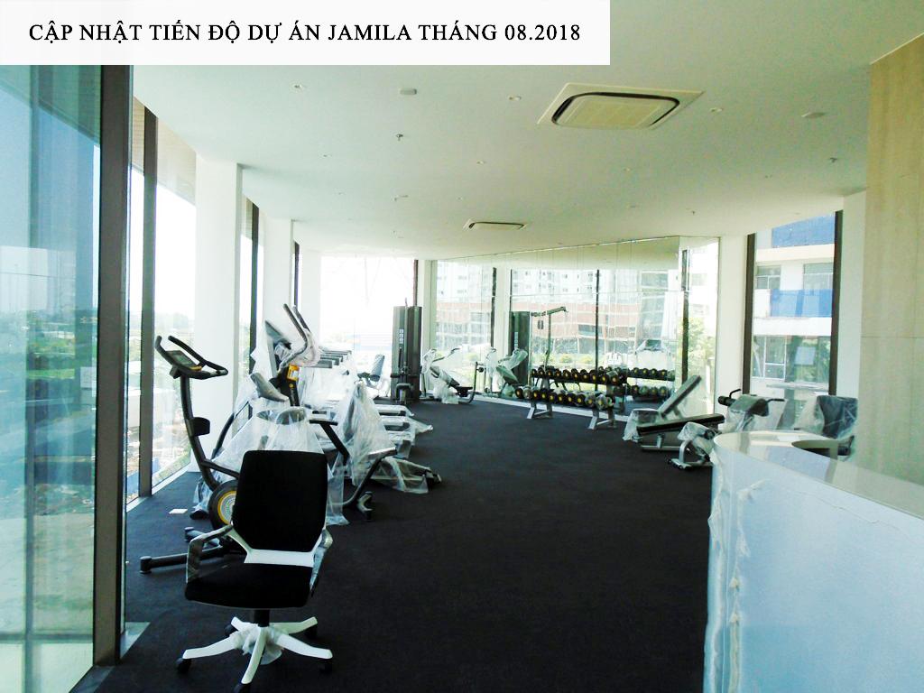 Phòng Gym dự án Jamila đã sẳn sàng chào đón những cư dân đầu tiên về sinh sống - Khang Điền HCM