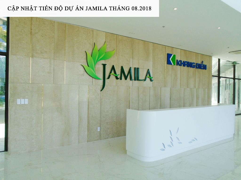 Sảnh lễ tân tại các Block căn hộ Jamila đã hoàn thành - Khang Điền HCM