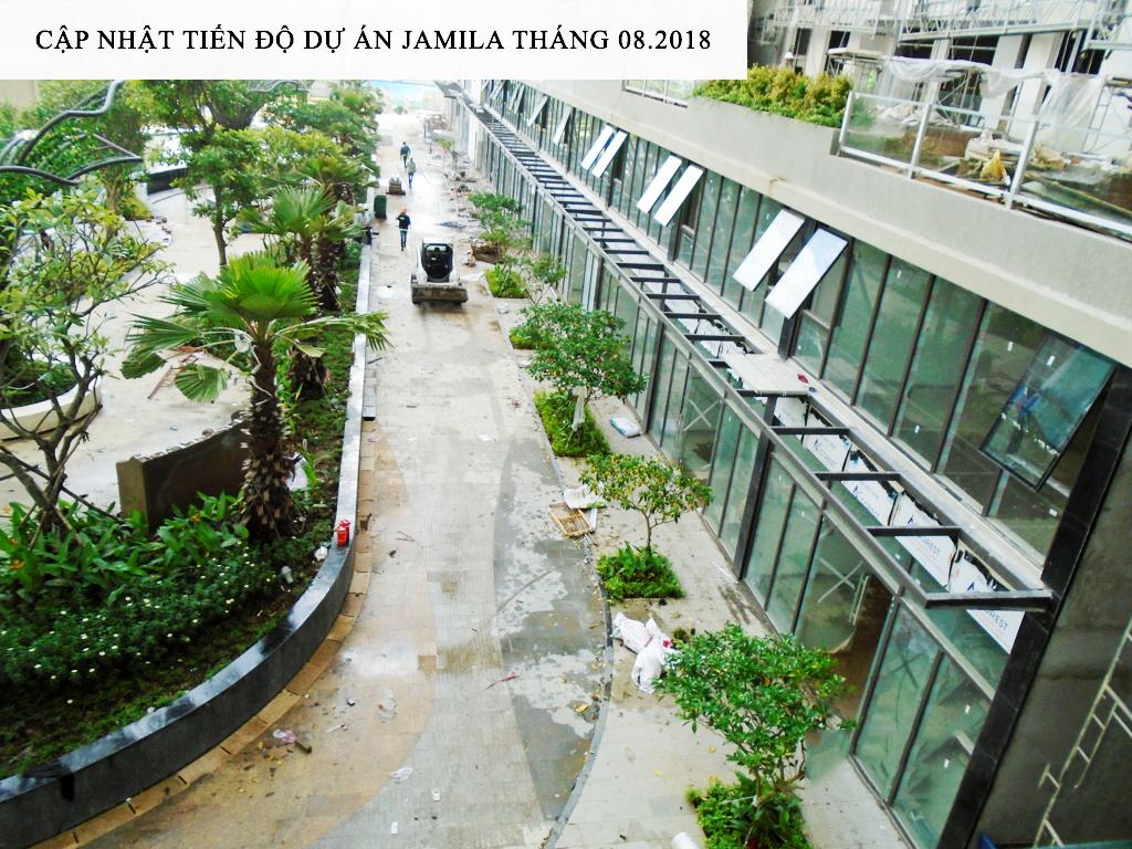 Shophouse thương mại đang dần thành hình hứa hẹn sẽ là nơi lý tưởng phục vụ cho quý cư dân trong dự án Jamila - Khang Điền HCM