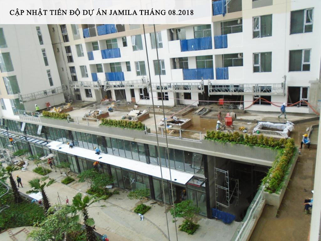 Sân vườn tầng 3 nơi thu giản của những chủ nhân sở hữu căn hộ sân vườn tại tầng này - Khang Điền HCM