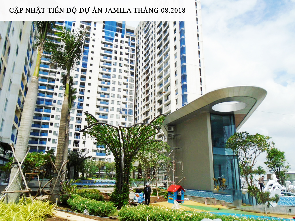 Toàn cảnh dự án Jamila nhìn từ đường Song Hành - Khang Điền HCM