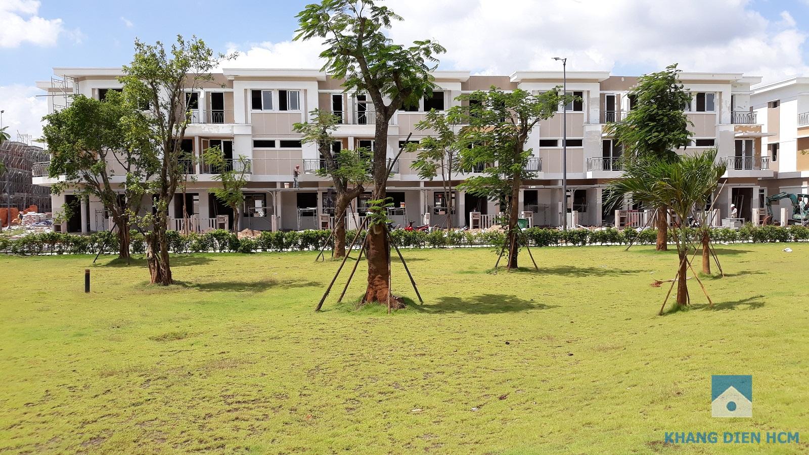 View nhìn trực diện công viên trung tâm của Block F - Khang Điền HCM