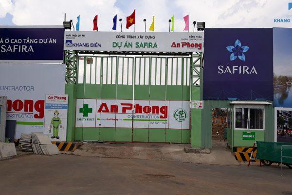 Hình ảnh thực tế cổng chính đi vào dự án Safira Khang Điền Phú Hữu - Khang Điền HCM