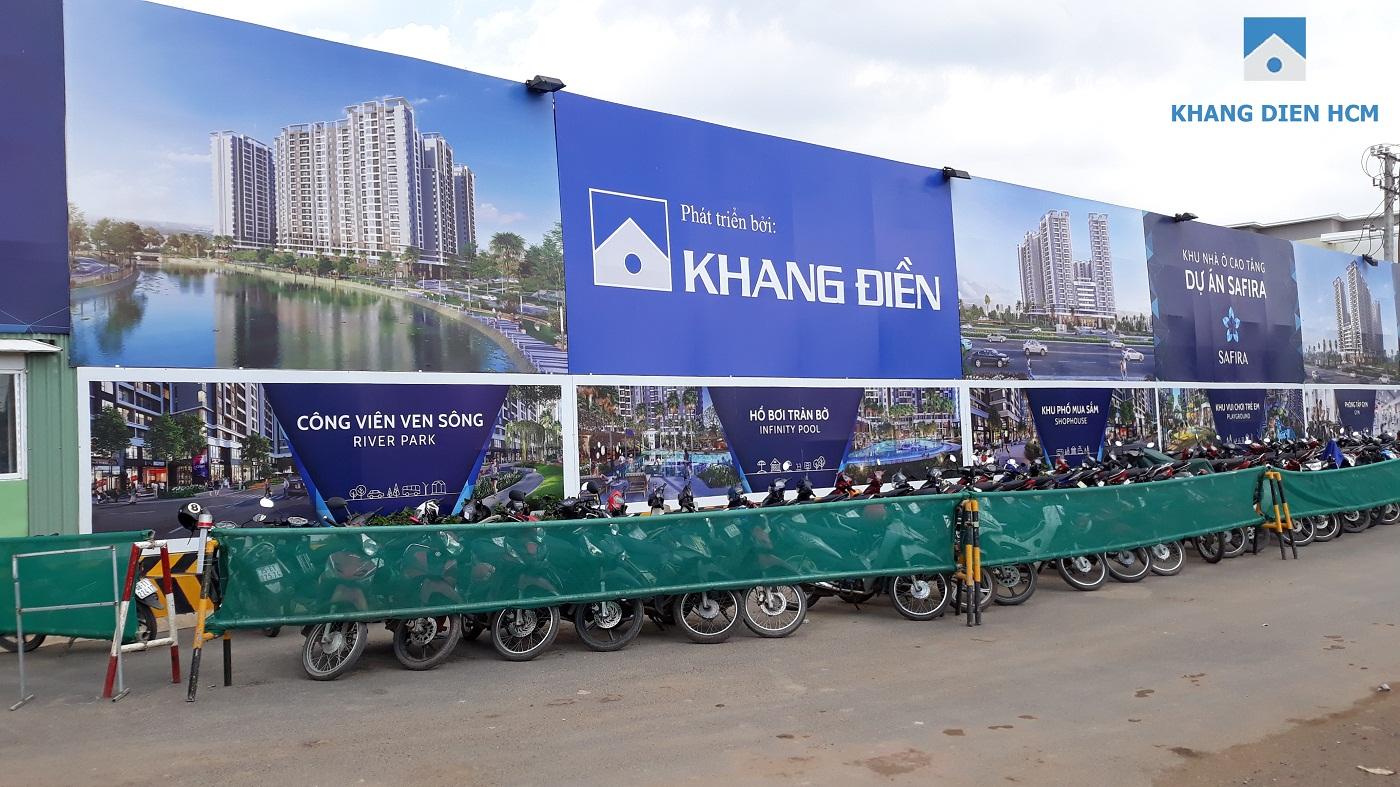 Bảng thông báo công trình dự án Safira được Chủ Đầu Tư Khang Điền công bố rộng rãi - Khang Điền HCM